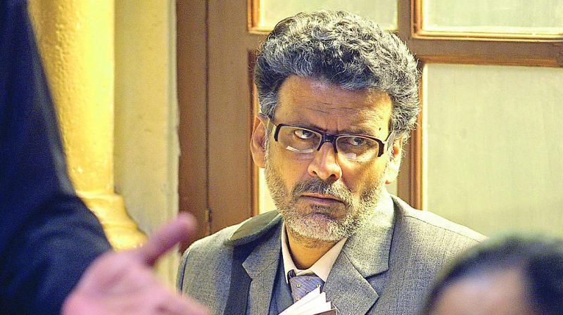 Manoj Bajpai as Professor Srinivas Ramchandra Siras in a scene from Hansal Mehta's Aligarh.