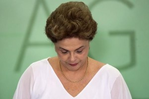 Brazil's President Dilma Rousseff attends a signing ceremony of land expropriation for agrarian reform and granting slave descendants, or Quilombolas, titles to their ancestral lands at the Planalto Palace in Brasilia, Brazil, April 1, 2016. Credit: Reuters/Adriano Machado