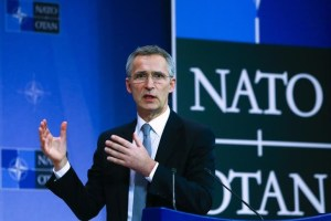 NATO Secretary General Jens Stoltenberg holds a news conference during a NATO defence ministers meeting at the Alliance's headquarters in Brussels, Belgium February 10, 2016. Credit:Reuters/Yves Herman