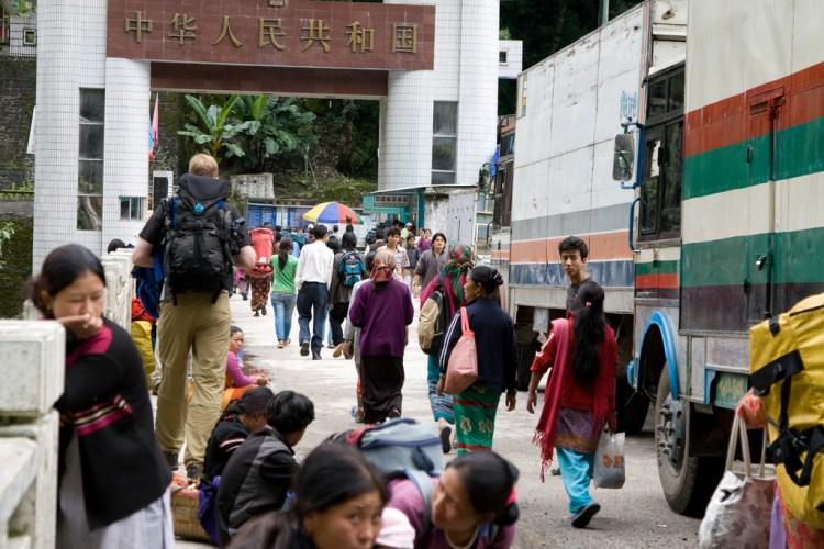 The China-Nepal border. Credit: John Town/Flickr CC BY-NC-ND 2.0