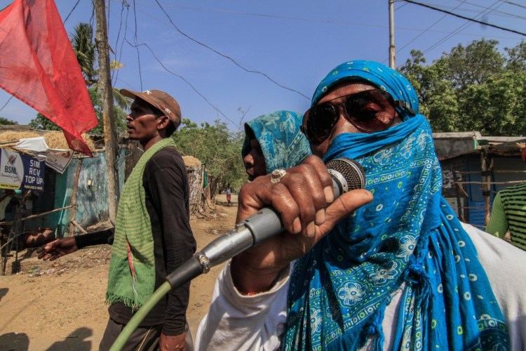 Amplified over the sound system were a range of demands, from jal, jungle and jameen, to 'adivasi par soshan daman bandh karo,' to an end to imperialist oppression.