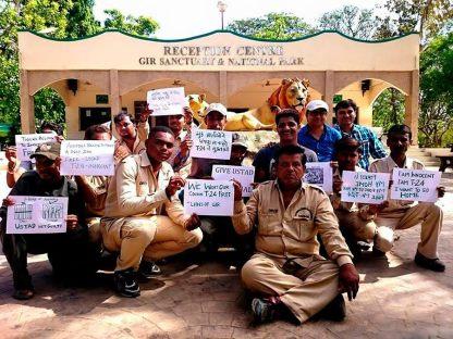 Locals demanding the return of Ustad to Ranthambore. Source: Rukmini Sekhar