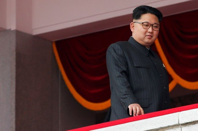 North Korean leader Kim Jong Un looks from the balcony as he presides over a mass rally and parade in the capital's main ceremonial square in Pyongyang, North Korea May 10, 2016. Credit: Reuters/Damir Sagolj