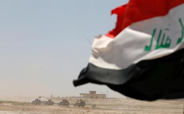 Iraqi security forces gather near Falluja, Iraq, May 31, 2016. Credit: Reuters/Thaier Al-Sudani/Files