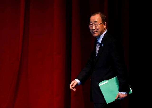 UN Secretary-General Ban Ki-moon arrives for the closing news conference during the World Humanitarian Summit in Istanbul, Turkey, May 24, 2016. Credit: Reuters/Murad Sezer/Files
