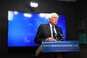 Democratic US Presidential candidate Bernie Sanders prepares to speak for a video to supporters at Polaris Mediaworks in Burlington, Vermont, US, June 16, 2016. Credit: Reuters/Matt McClain/Pool