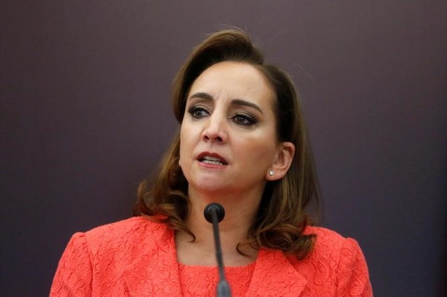 Mexico's Foreign Minister Claudia Ruiz Massieu delivers a speech during a news conference as part of the 36th session of ECLAC in Mexico City, May 23, 2016. Credit: Reuters/Edgard Garrido