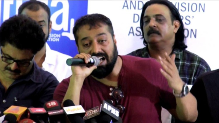 Anurag Kashyap and the Udta Punjab team at the Indian Film & Television Directors' Association press conference held on June 8. Credit: Youtube