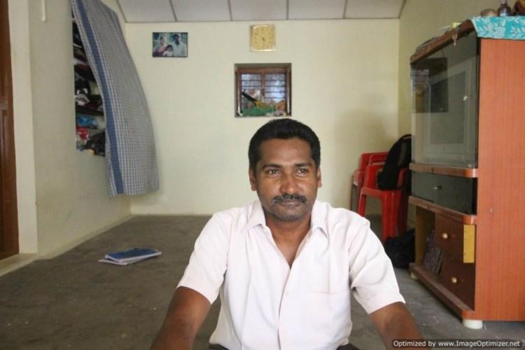 S. Mugilan at home. Chennimalai, Tamil Nadu.