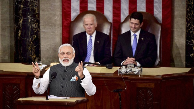 Prime Minister Narendra Modi addressing US Congress. Credit: PTI