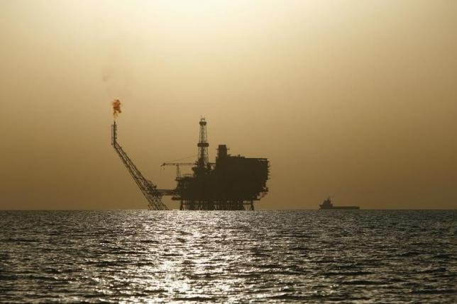 An offshore oil platform is seen at the Bouri Oil Field off the coast of Libya August 3, 2015. Crredit: Reuters/Darrin Zammit Lupi
