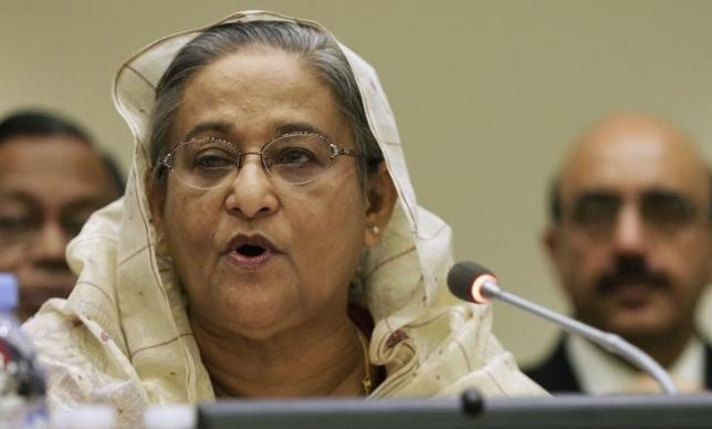 Bangladesh's Prime Minister Sheikh Hasina addresses a high-level summit on strengthening international peace operations during the 69th session of the United Nations General Assembly at United Nations headquarters in New York September 26, 2014. Credit: Reuters/Andrew Gombert/Pool/Files