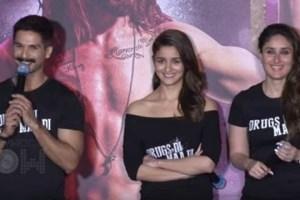 Udta Punjab stars Shahid Kapoor, Alia Bhatt and Kareena Kapoor. Credit: PTI