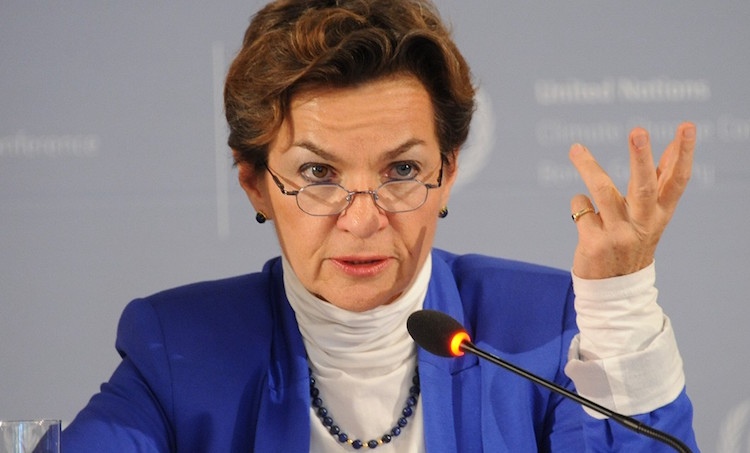 Photo: Christiana Figueres, outgoing Executive Secretary of the UNFCCC. Credit: CarbonBrief