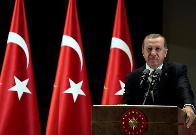 Turkish President Tayyip Erdogan makes a speech during an iftar event in Ankara, Turkey, June 29, 2016. Credit: Reuters/Yasin Bulbul/Handout