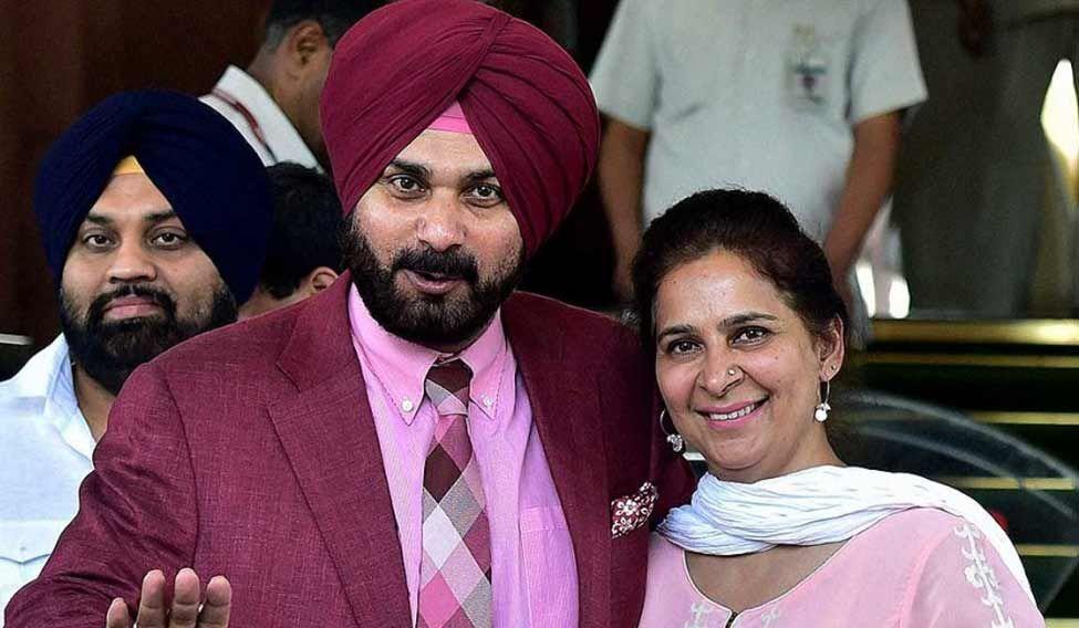 Navjot Singh Sidhu and Navjot Kaur. Credit: PTI