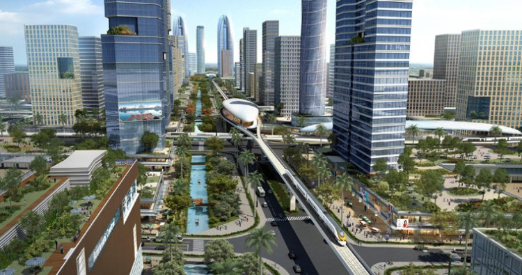 The planned Amaravati city. Credit: Wikimedia Commons