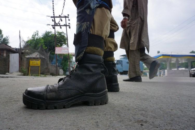 Kashmir under curfew Credit: Shome Basu