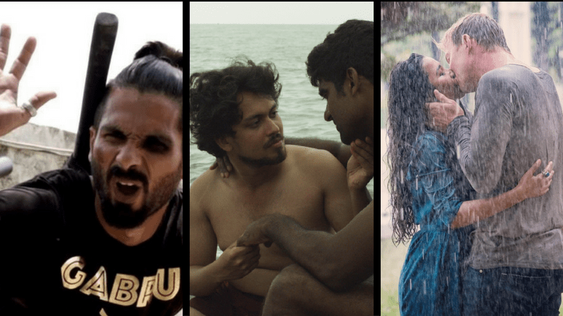 Stills from Udta Punjab (left), Ka Bodyscapes (centre) and Unindian (right). All three films faced difficulties with censorship.
