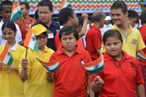Children celebrating Independence Day in Guwahati last year. Credit: PTI