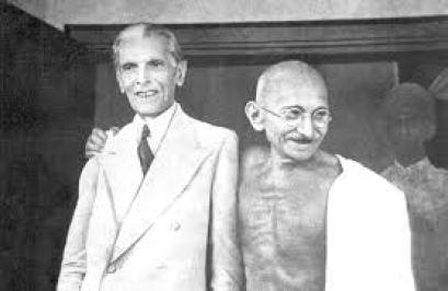 Mahatma Gandhi and Muhammad Ali Jinnah. Credit: Wikimedia Commons