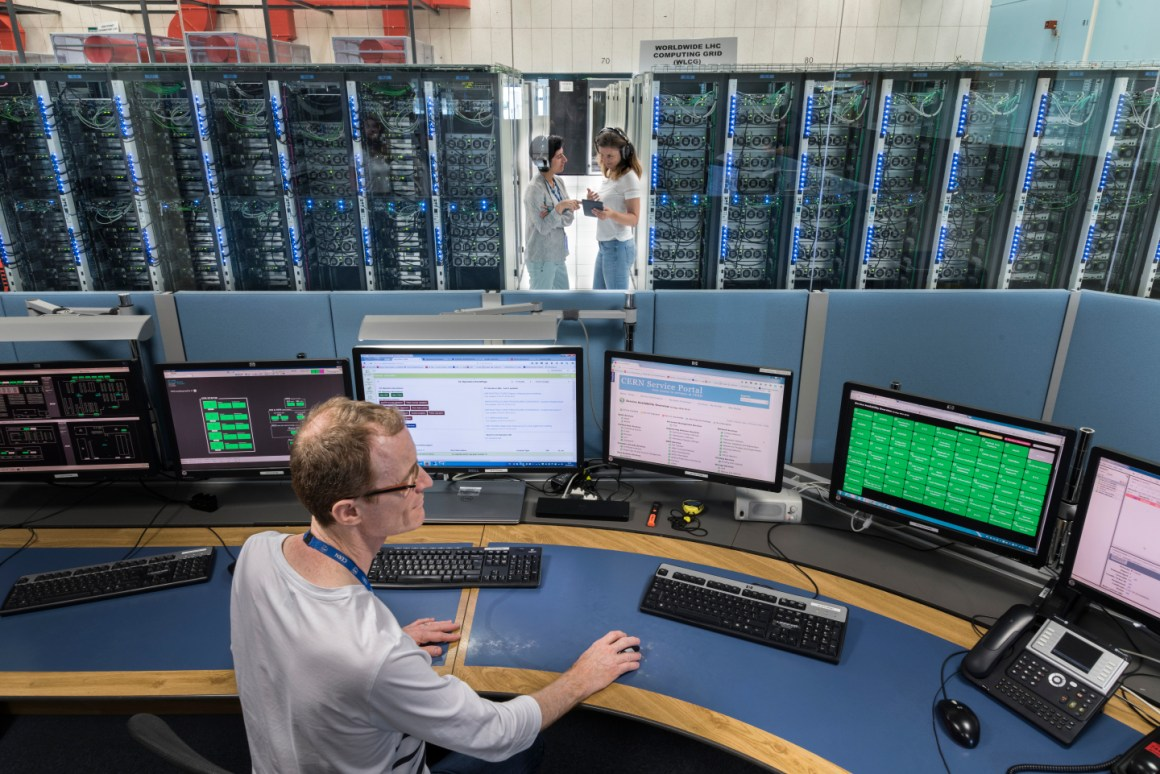 A view of the CERN control centre. Credit: CERN