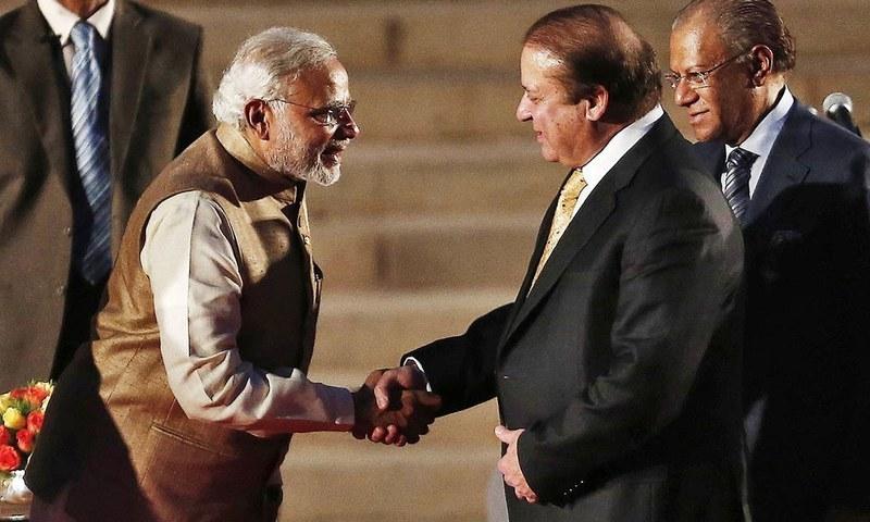 Prime Minister Narendra Modi meeting his Pakistani counterpart Prime Minister Nawaz Sharif in May, 2014. Credit: Reuters