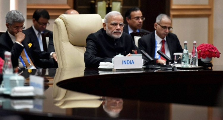 Prime Minister Narendra Modi at the G20 summit in Huanzhou, China. Credit: PTI