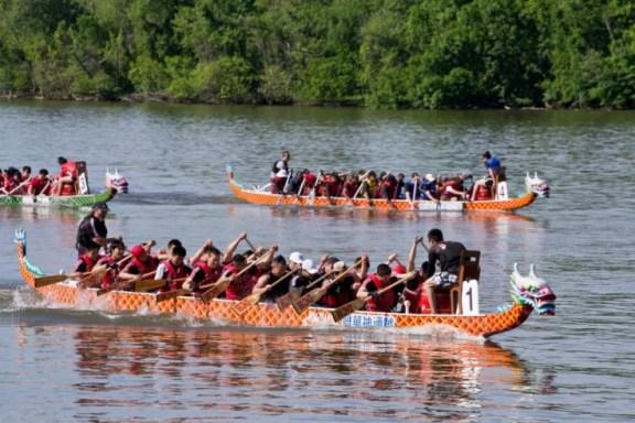 Modern dragon-boat race in Washington DC. Courtesy: Pratyay Nath/mocovox.com