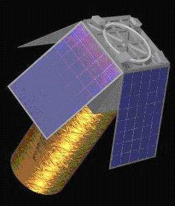 An artist's rendering of a Kestrel Eye satellite. Credit: US Army