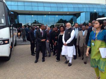 Prime Minister Narendra Modi during his visit to Mozambique on July 2016. Credit: Patrik Oskarsson