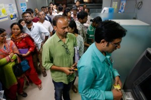 A RBI survey said that 30% of ATMs that were looked at, were found to be not functional. Credit: Reuters
