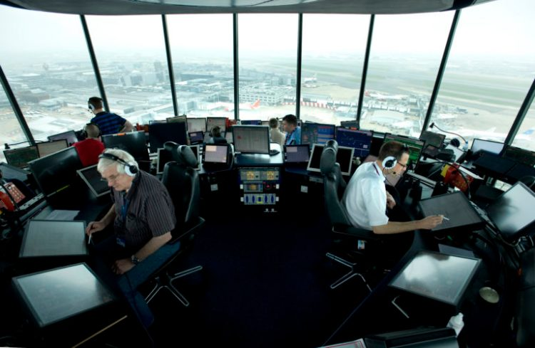 Air traffic controllers. Credit: NATS Press Office/ Flickr, CC BY-NC-ND 2.0
