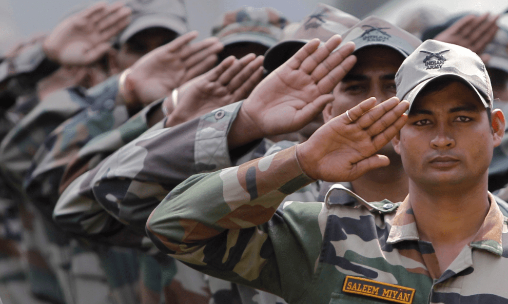 Indian army soldiers. Credit: Reuters/Danish Ismail