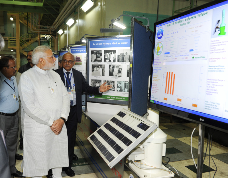 Prime Minister Narendra Modi at the Bhabha Atomic Research Centre, Mumbai. Credit: pmindia.gov.in security