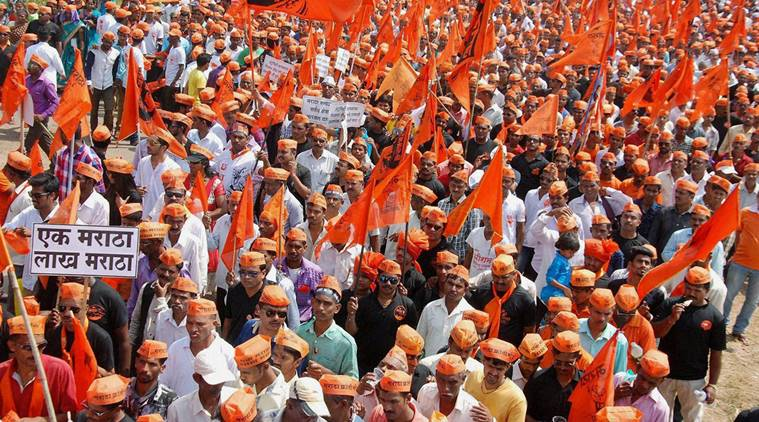 File photo of a rally of Marathas in Sindhudurg, Maharashtra.