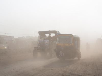 Varanasi had no good air quality days in 2015. Credit: PTI