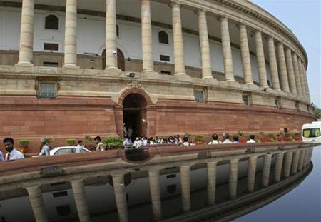 A view of the Indian parliament building. Credit: Reuters/B. Mathur/File Photo