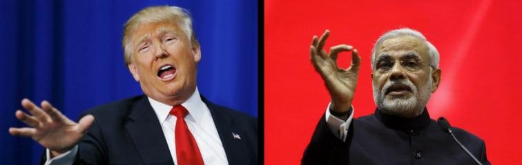 US President Donald Trump and Indian Prime Minister Narendra Modi. Credit: Reuters
