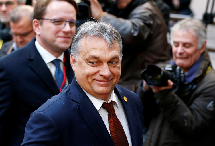 Hungary's Prime Minister Viktor Orbán arrives at a European Union leaders summit in Brussels, December 15 2016. Credit: Reuters