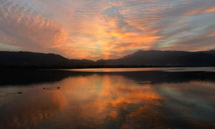 The lake at dusk. Credit: Arif Ali