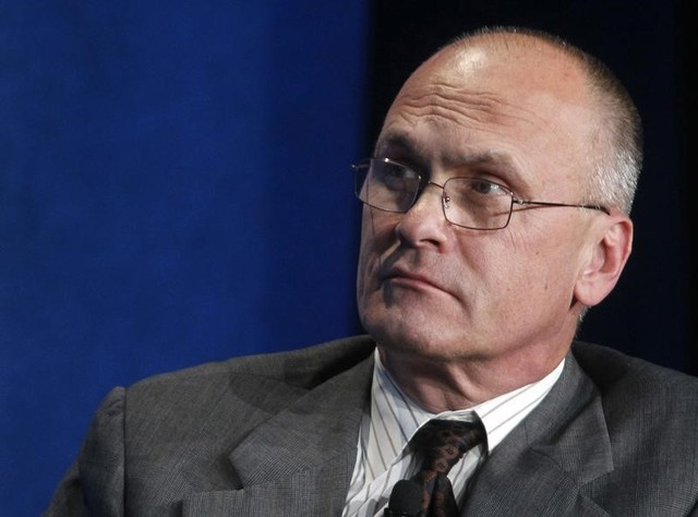 "Andrew Puzder takes part in a panel discussion titled ""Understanding the Post-Recession Consumer"" at the Milken Institute Global Conference in Beverly Hills, California April 30, 2012. Credit: Reuters"