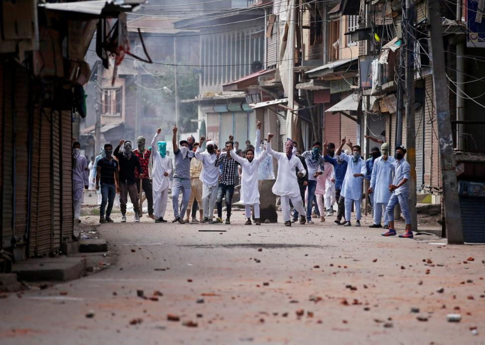 File photo of a protest in Kashmir. Credit: Reuters/Danish Ismail