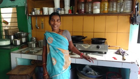Pushpa in her kitchen
