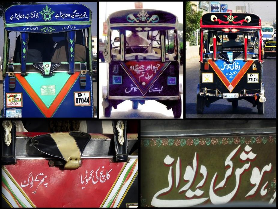 Rickshaw poetry in Pakistan. Credit: Durriya Kazi
