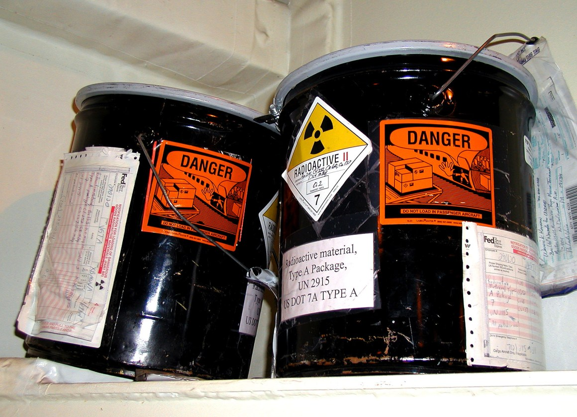 Radioactive Cans. Credit: Wikimedia Commons