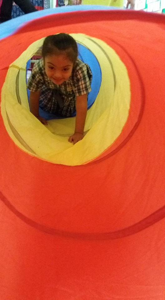 Mahi in the sensory room. Credit: Shefali Kalra.