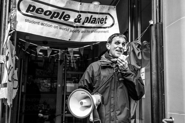 Hugo Gorringe speaking at a rally in Edinburgh in 2016. Credit: Twitter