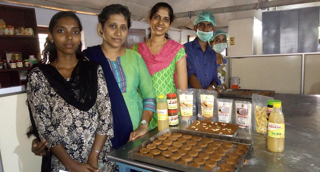 Value-added jackfruit products developed at Santhigram. Credit: JPC