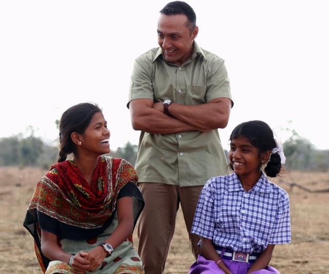 Poorna Malavath (left), Rahul Bose, and Aditi Inamdar (right)